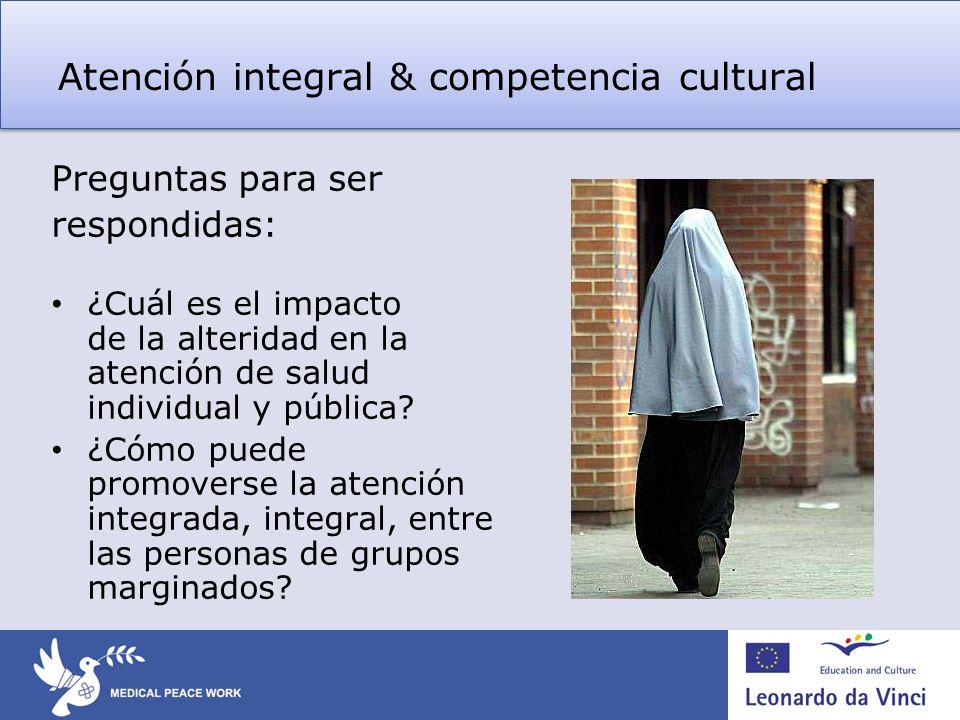 Atención integral & competencia cultural