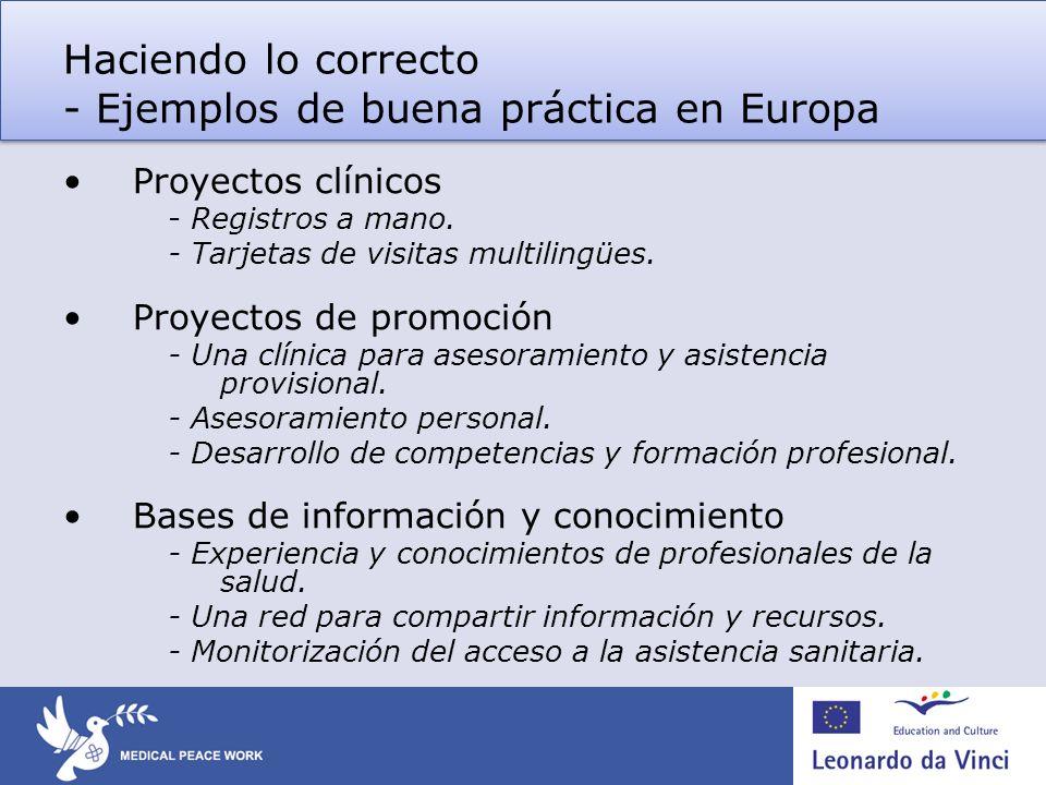 Haciendo lo correcto - Ejemplos de buena práctica en Europa