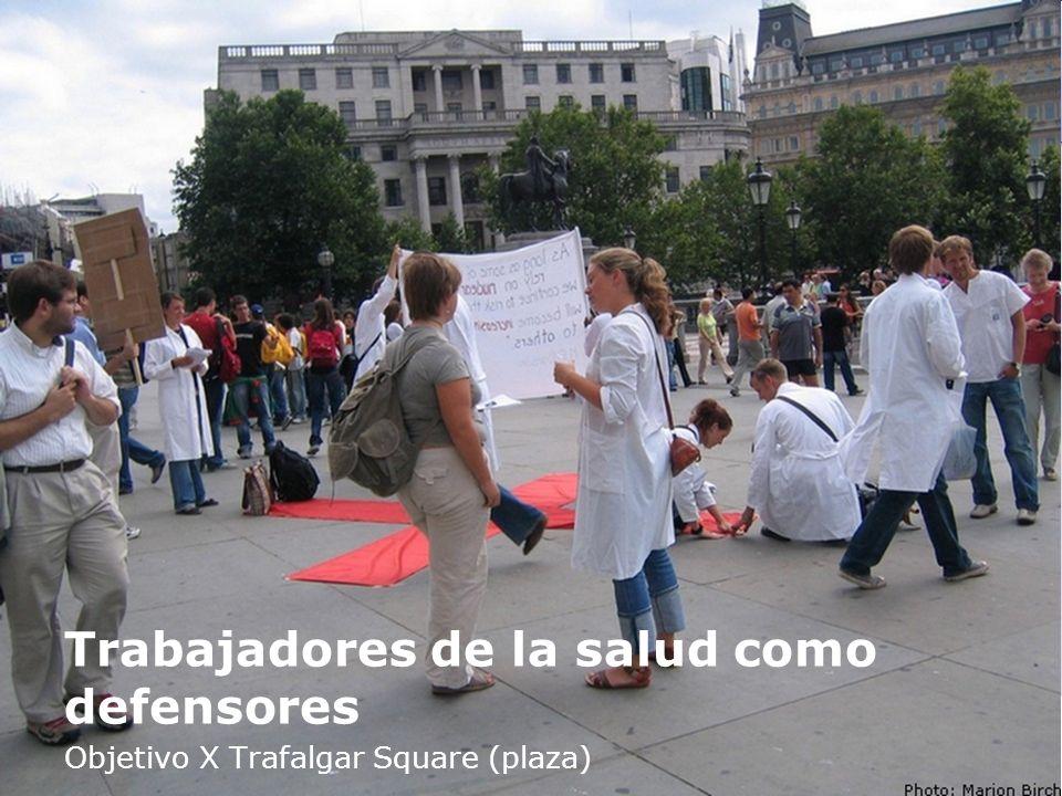 Trabajadores de la salud como defensores