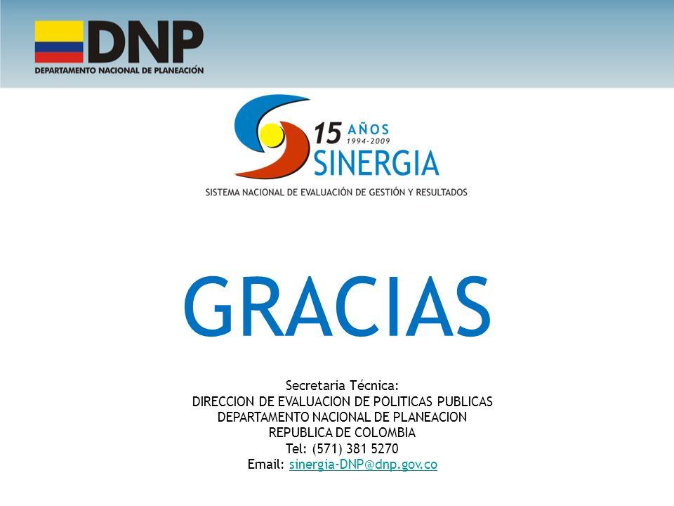 GRACIAS Secretaria Técnica: