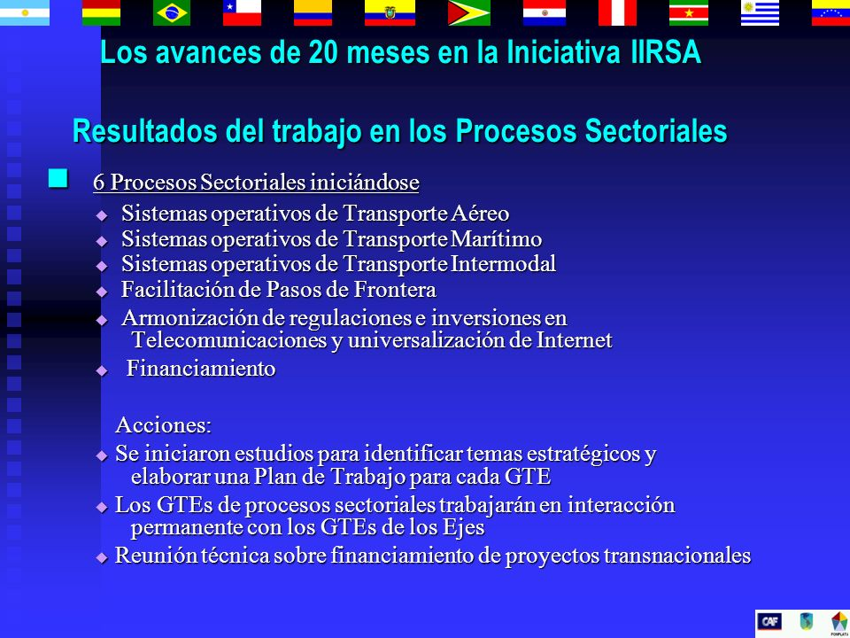 6 Procesos Sectoriales iniciándose