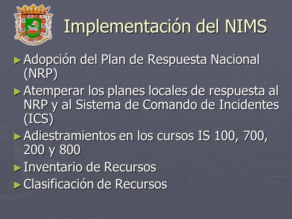 Implementación del NIMS