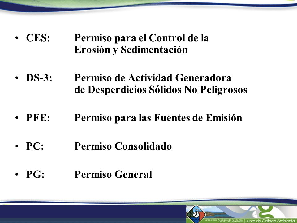 CES: Permiso para el Control de la Erosión y Sedimentación
