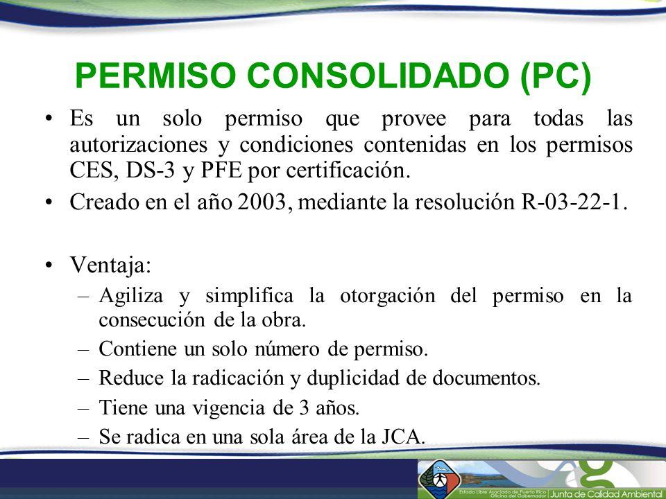 PERMISO CONSOLIDADO (PC)