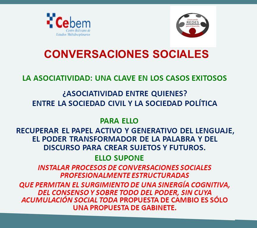 CONVERSACIONES SOCIALES