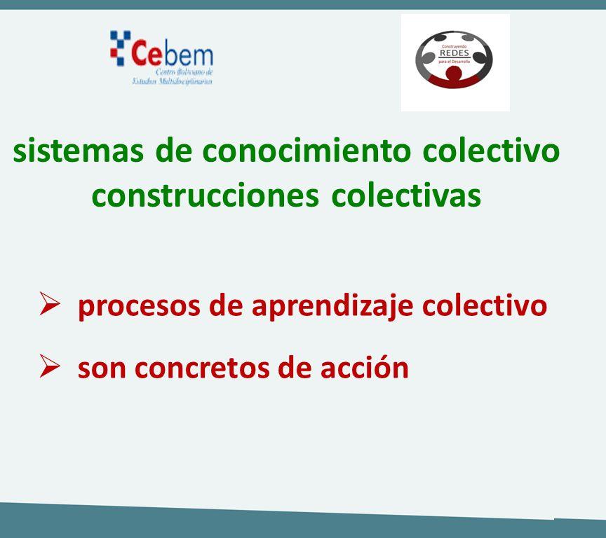 sistemas de conocimiento colectivo construcciones colectivas