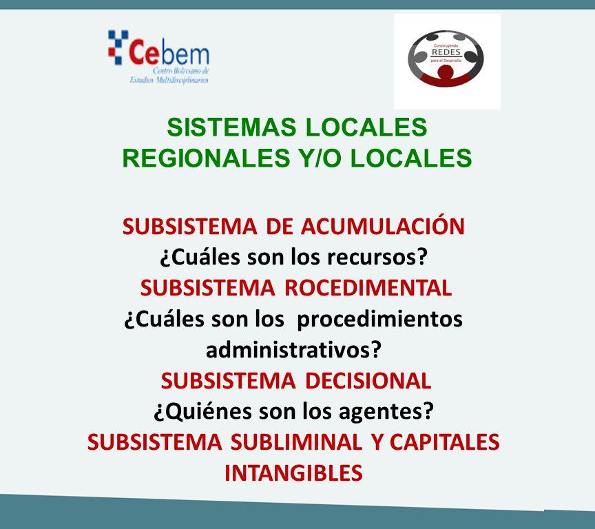 REGIONALES Y/O LOCALES