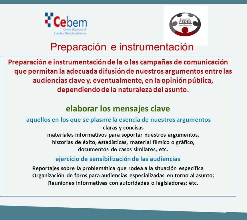 Preparación e instrumentación