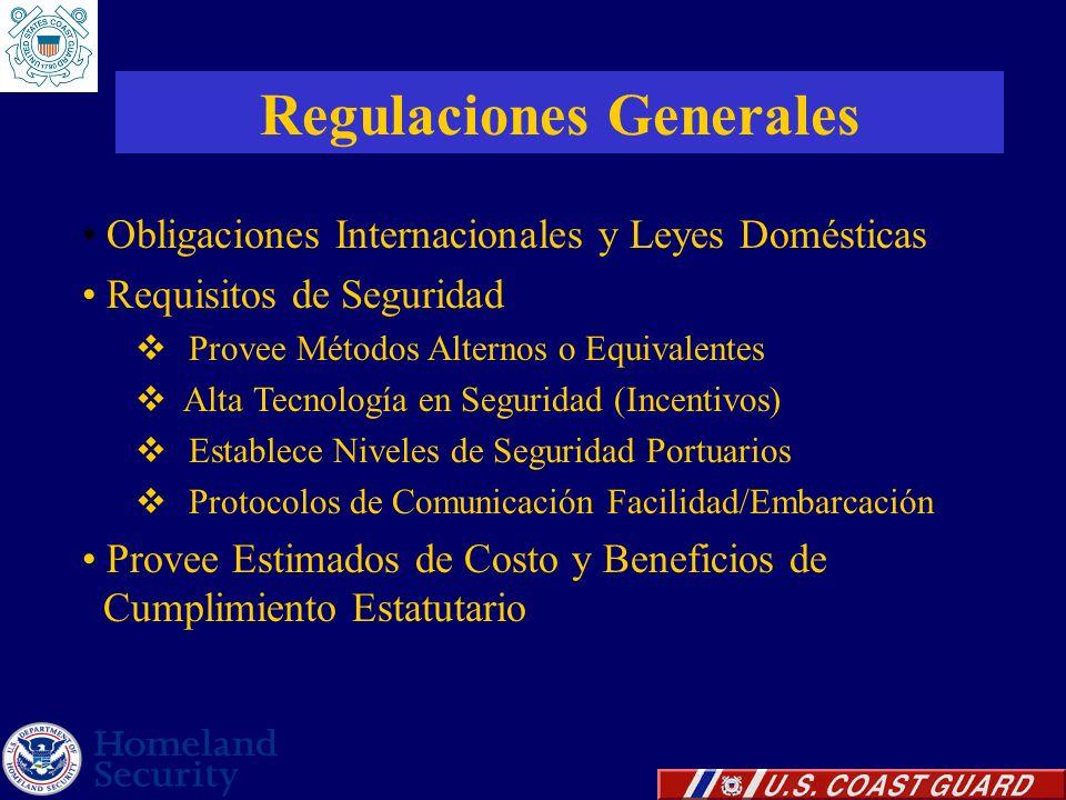 Regulaciones Generales