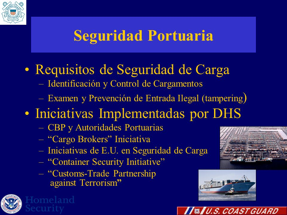 Seguridad Portuaria Requisitos de Seguridad de Carga