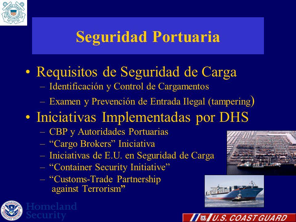 Seguridad Portuaria Requisitos de Seguridad de Carga