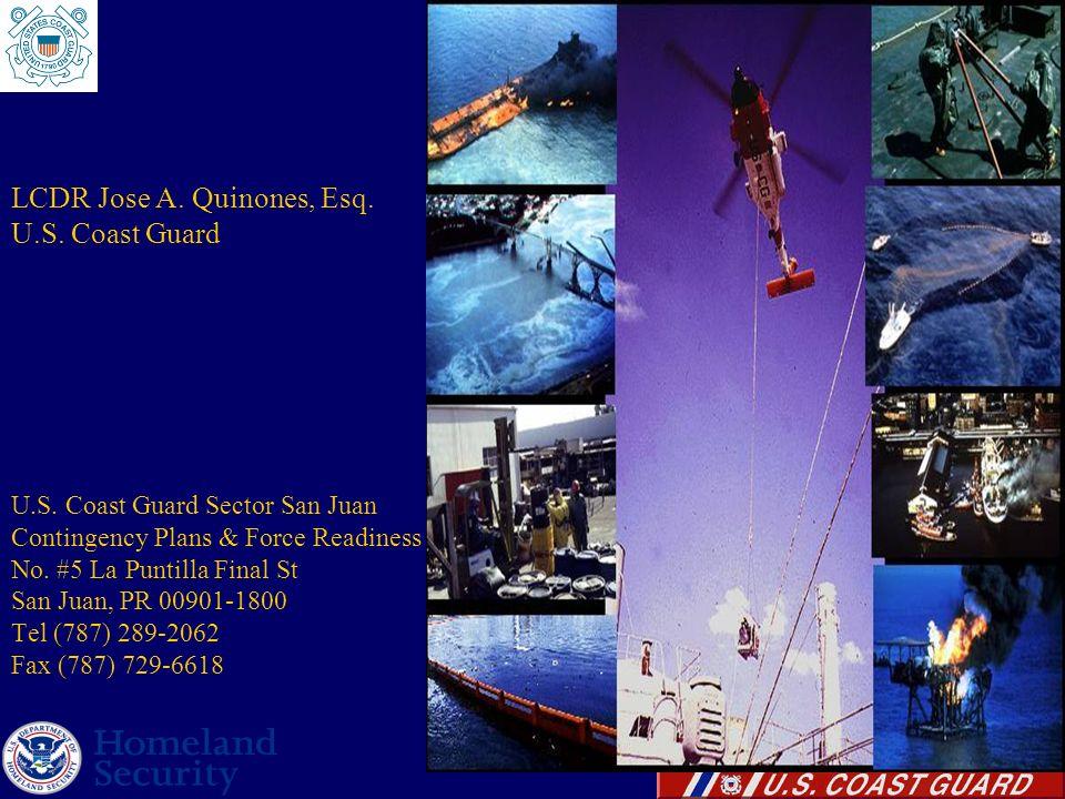 LCDR Jose A. Quinones, Esq. U.S. Coast Guard