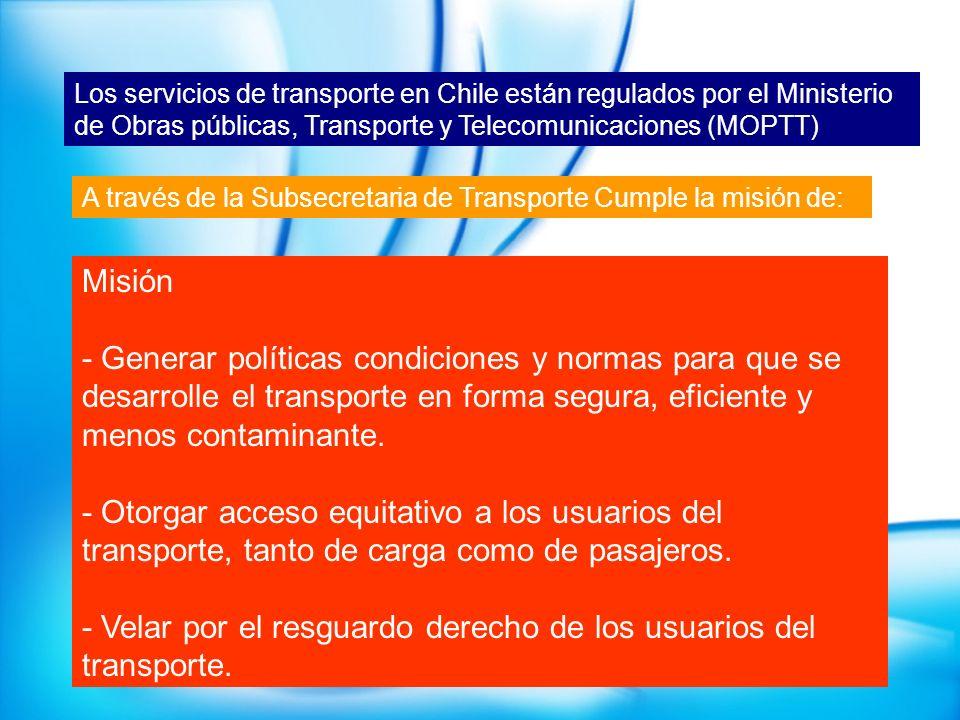 - Velar por el resguardo derecho de los usuarios del transporte.