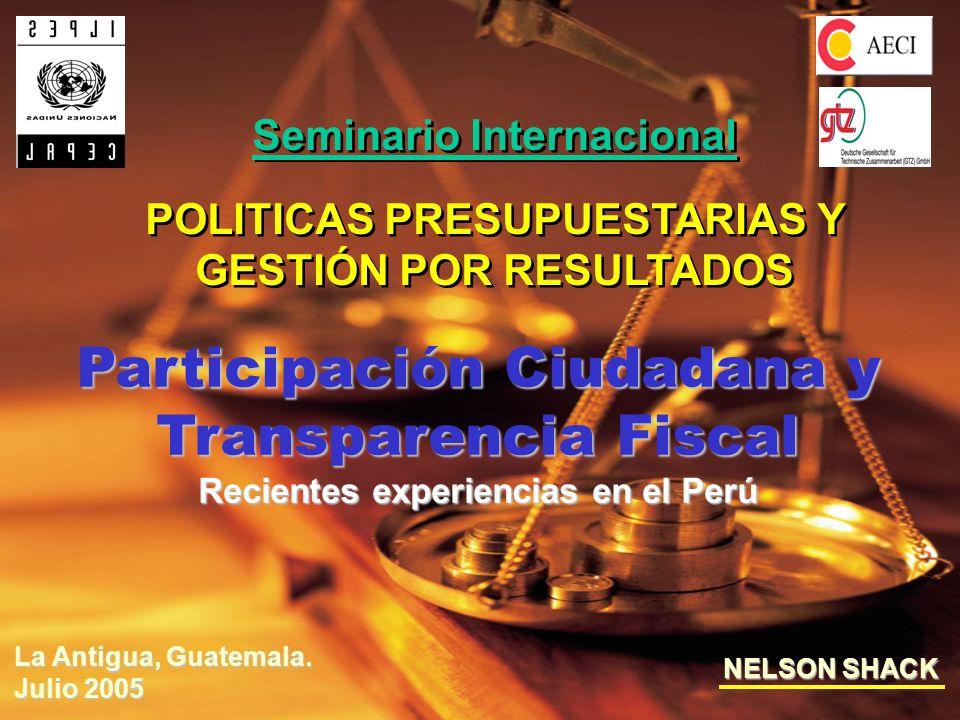 Participación Ciudadana y Transparencia Fiscal