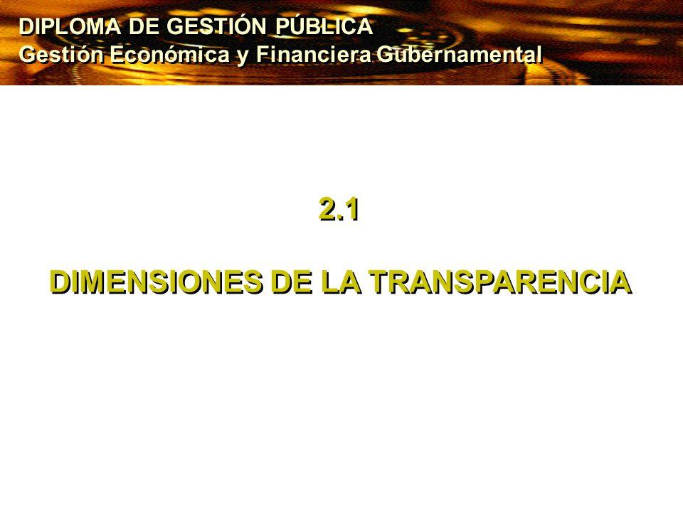 DIMENSIONES DE LA TRANSPARENCIA