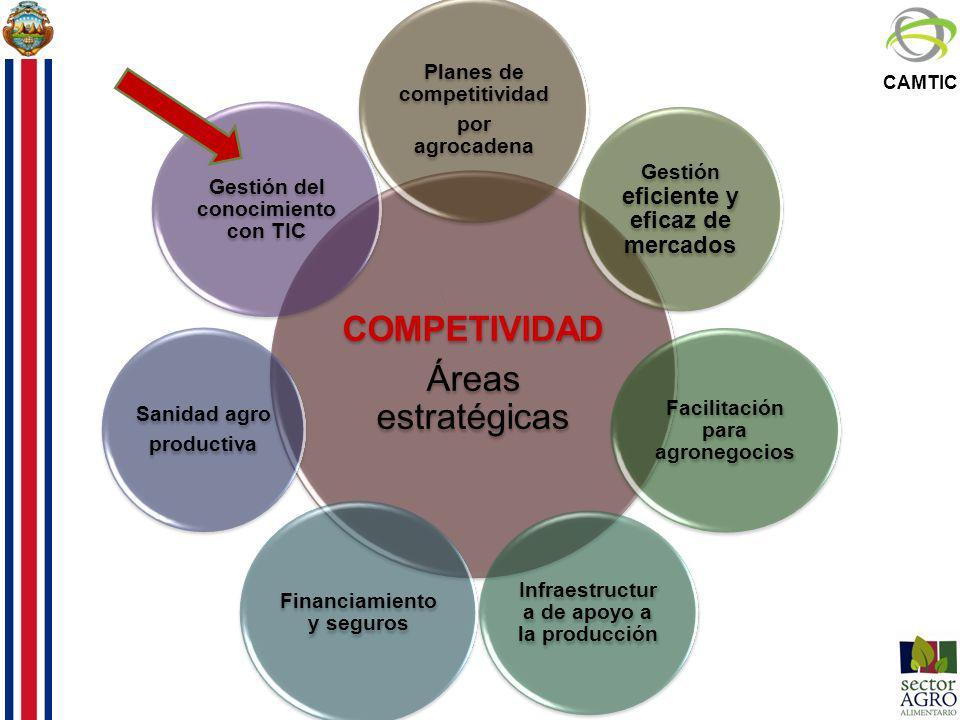 Áreas estratégicas COMPETIVIDAD Planes de competitividad
