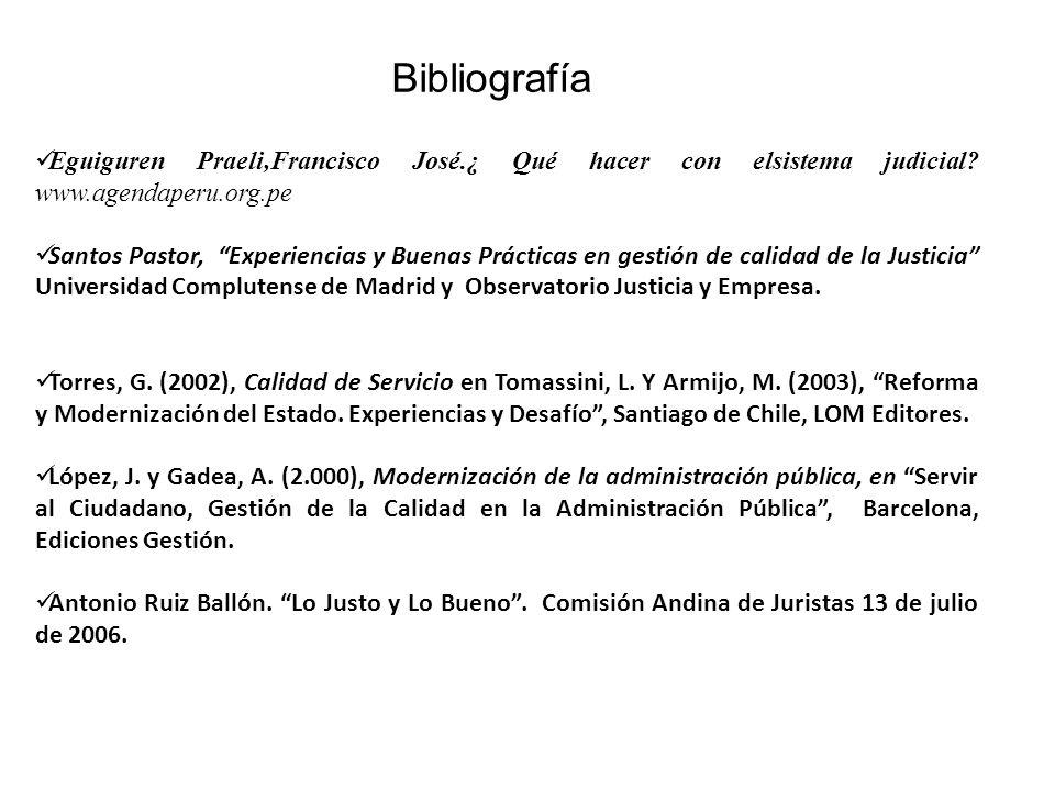 Bibliografía Eguiguren Praeli,Francisco José.¿ Qué hacer con elsistema judicial www.agendaperu.org.pe.