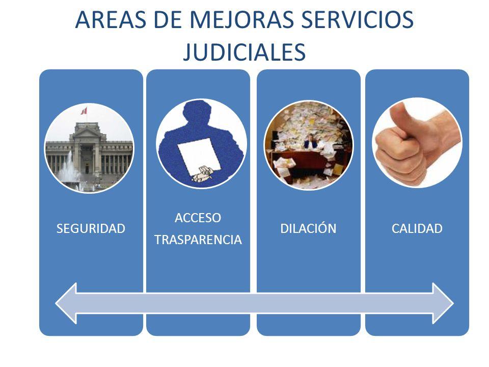 AREAS DE MEJORAS SERVICIOS JUDICIALES
