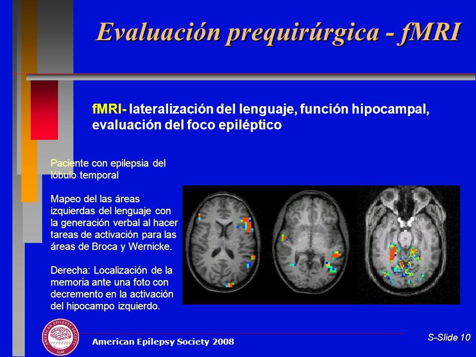 Evaluación prequirúrgica - fMRI