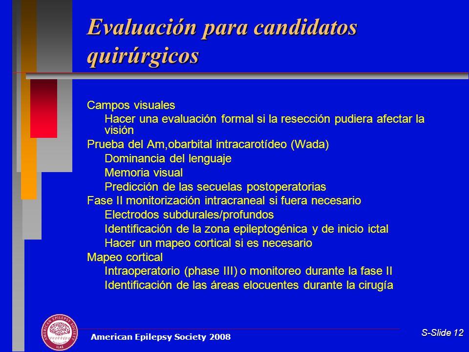 Evaluación para candidatos quirúrgicos