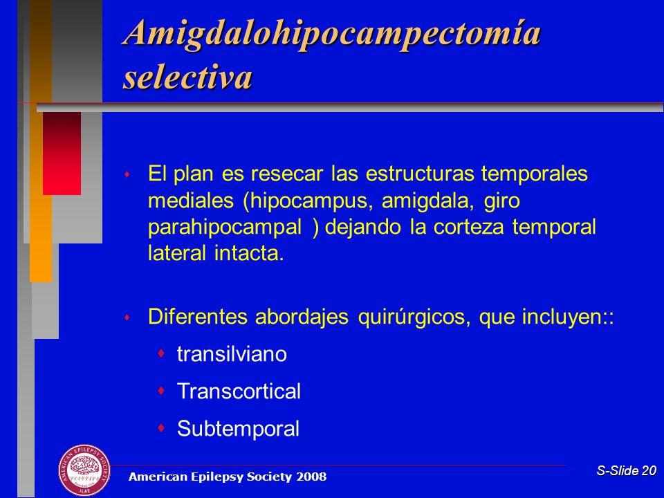 Amigdalohipocampectomía selectiva