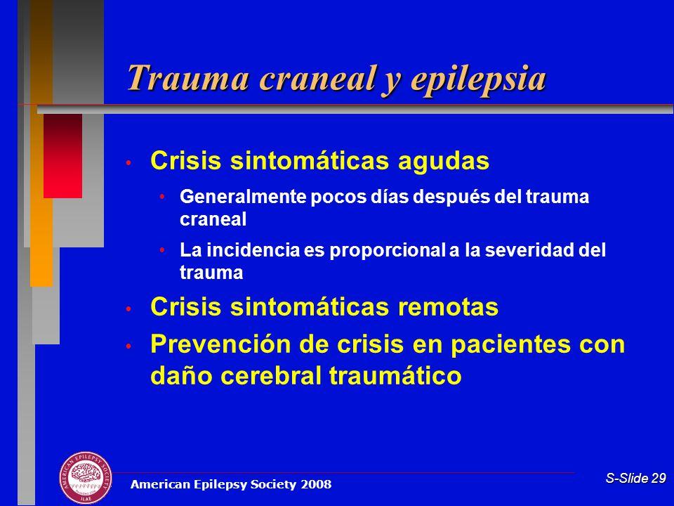 Trauma craneal y epilepsia