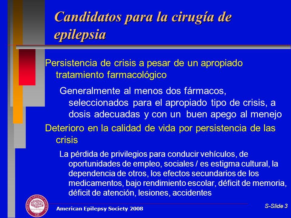 Candidatos para la cirugía de epilepsia