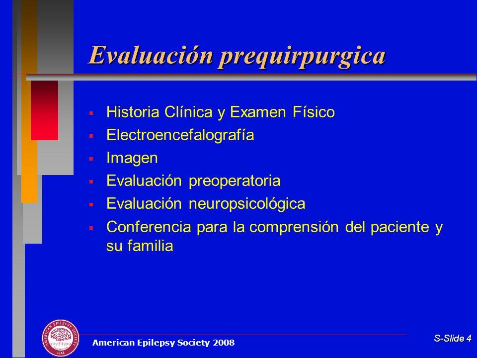 Evaluación prequirpurgica