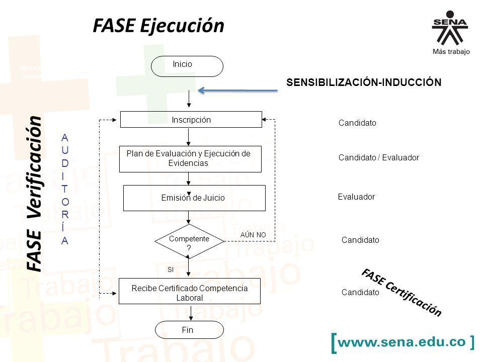 FASE Ejecución FASE Verificación