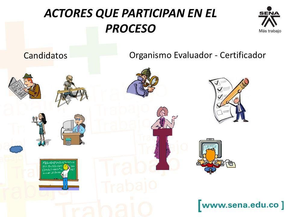 ACTORES QUE PARTICIPAN EN EL PROCESO