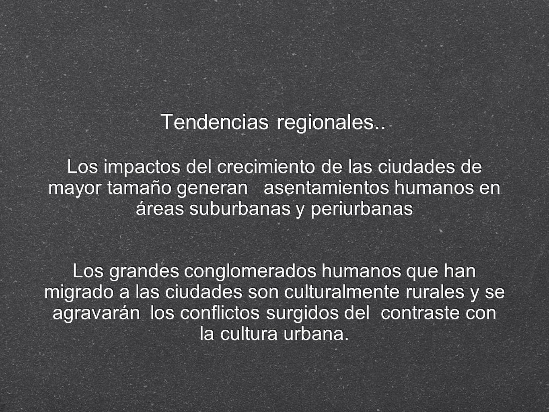 Tendencias regionales..