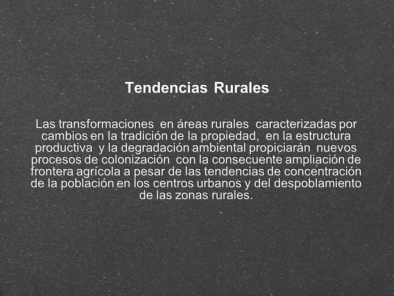 Tendencias Rurales