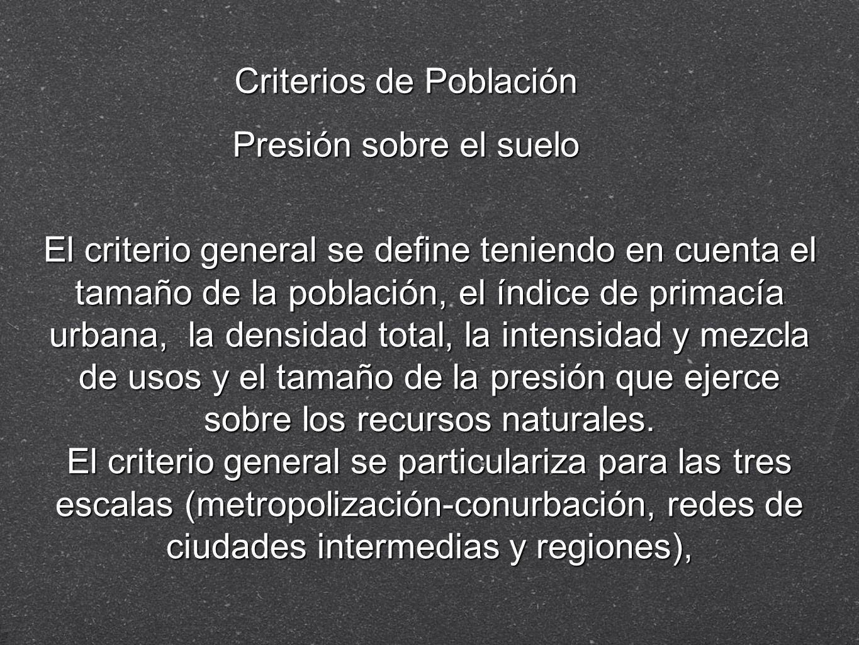 Criterios de Población