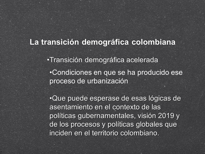 La transición demográfica colombiana