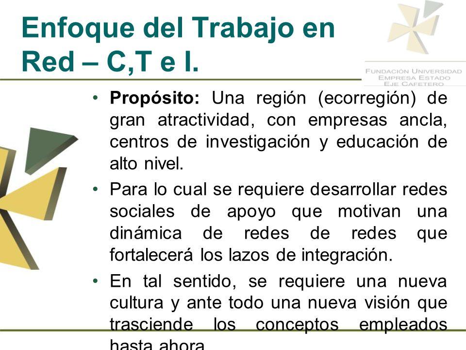 Enfoque del Trabajo en Red – C,T e I.