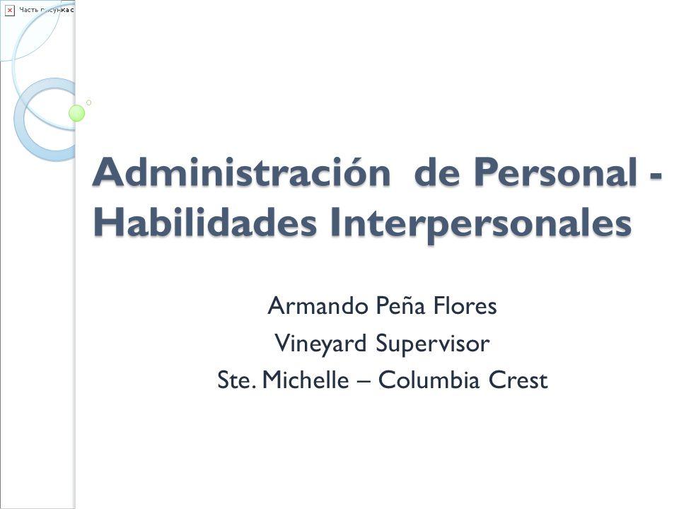 Administración de Personal - Habilidades Interpersonales