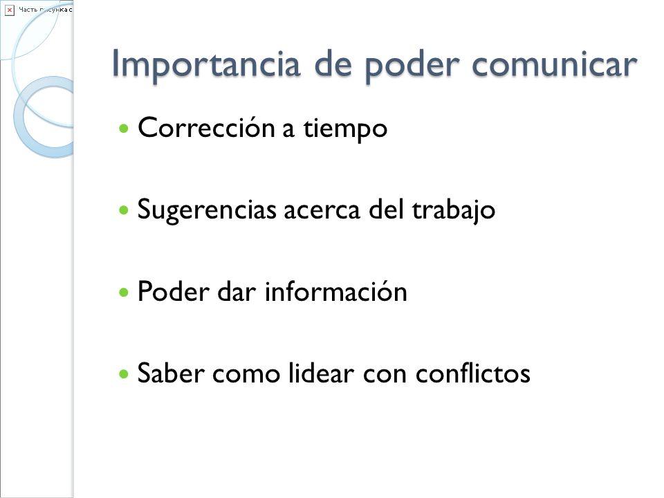 Importancia de poder comunicar
