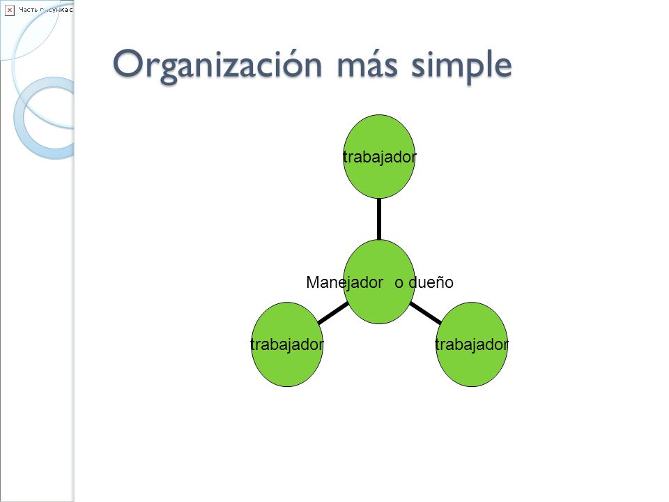 Organización más simple