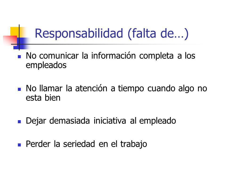 Responsabilidad (falta de…)