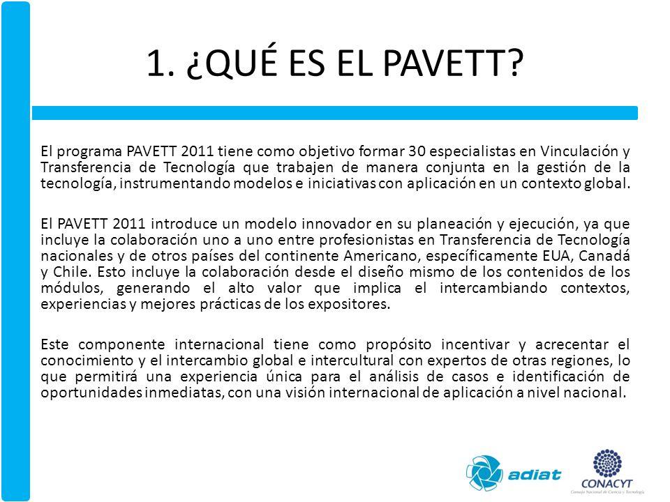 1. ¿QUÉ ES EL PAVETT