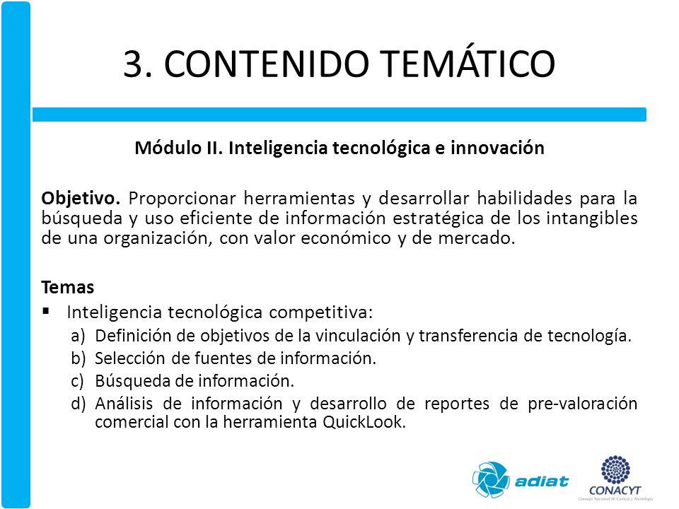 Módulo II. Inteligencia tecnológica e innovación