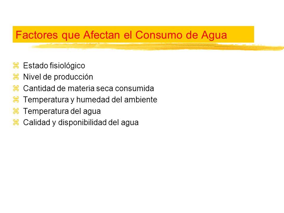 Factores que Afectan el Consumo de Agua