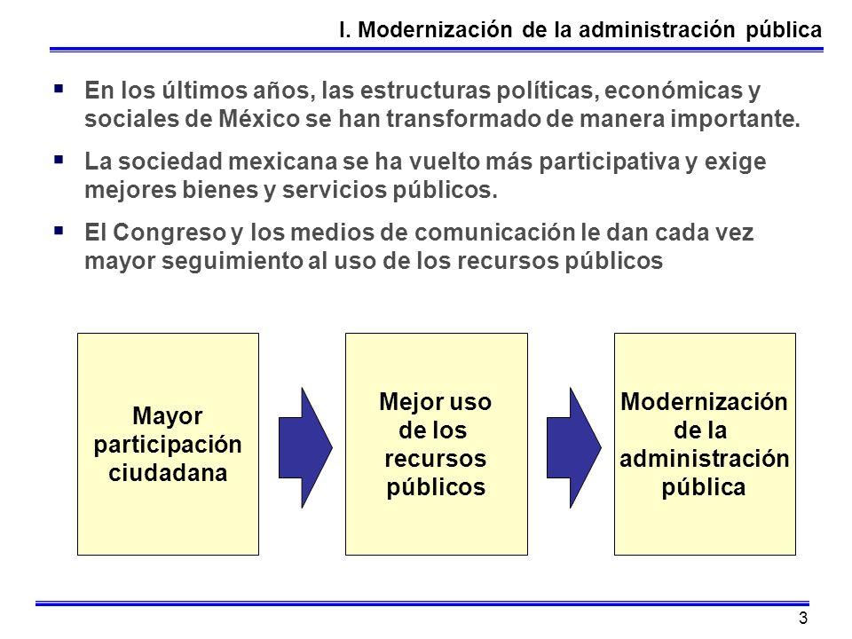 I. Modernización de la administración pública