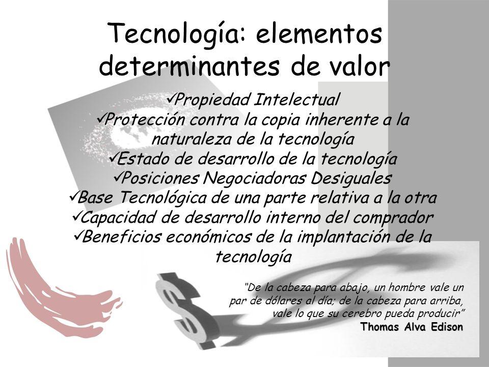 Tecnología: elementos determinantes de valor