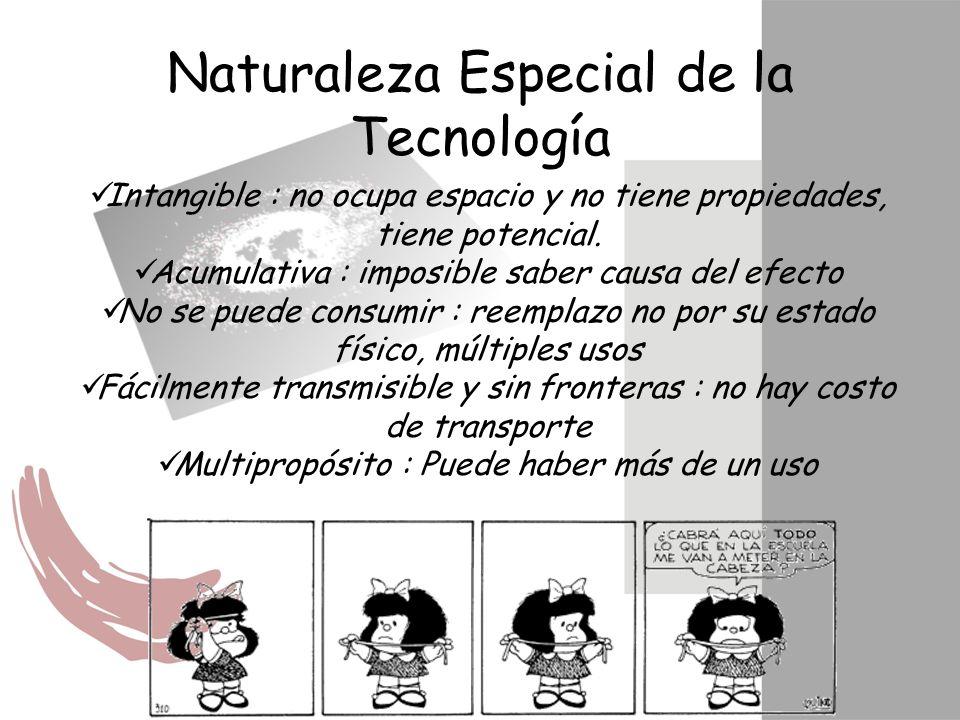 Naturaleza Especial de la Tecnología