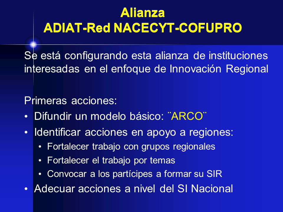 Alianza ADIAT-Red NACECYT-COFUPRO