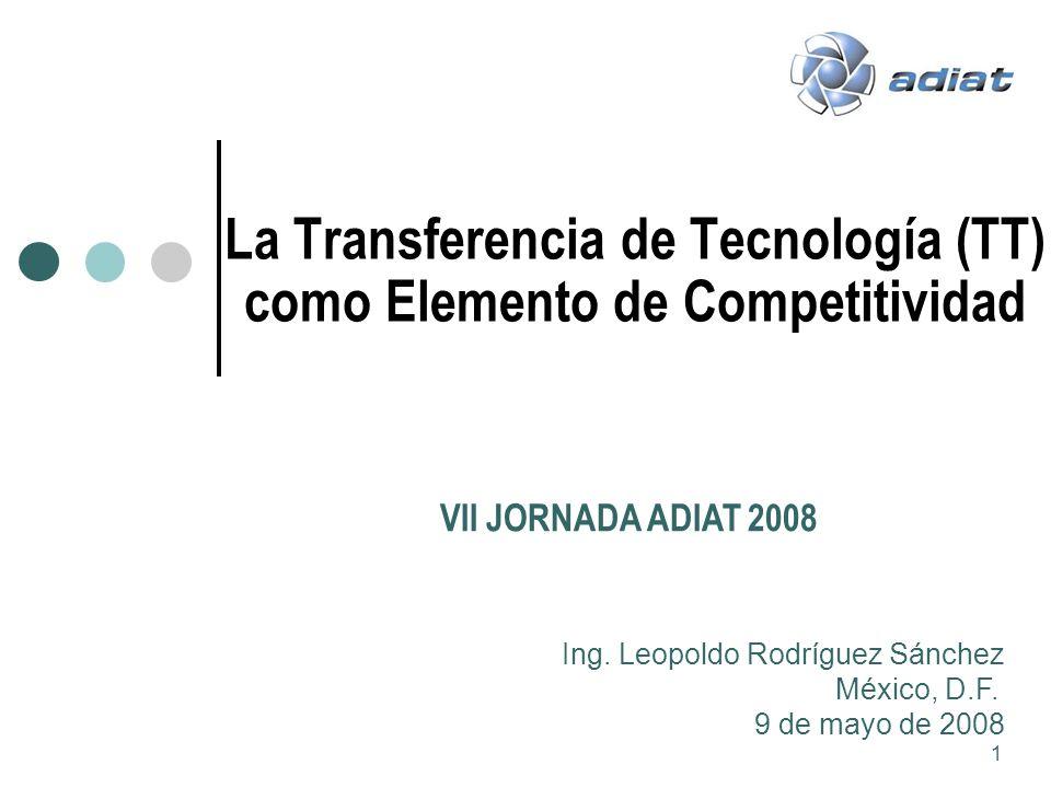 La Transferencia de Tecnología (TT) como Elemento de Competitividad