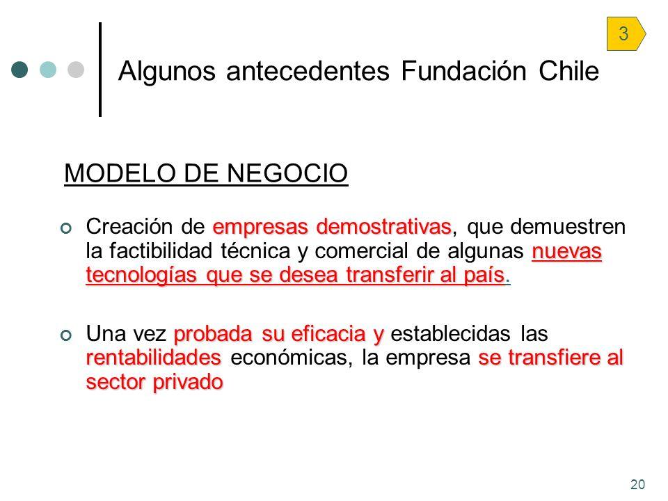 Algunos antecedentes Fundación Chile