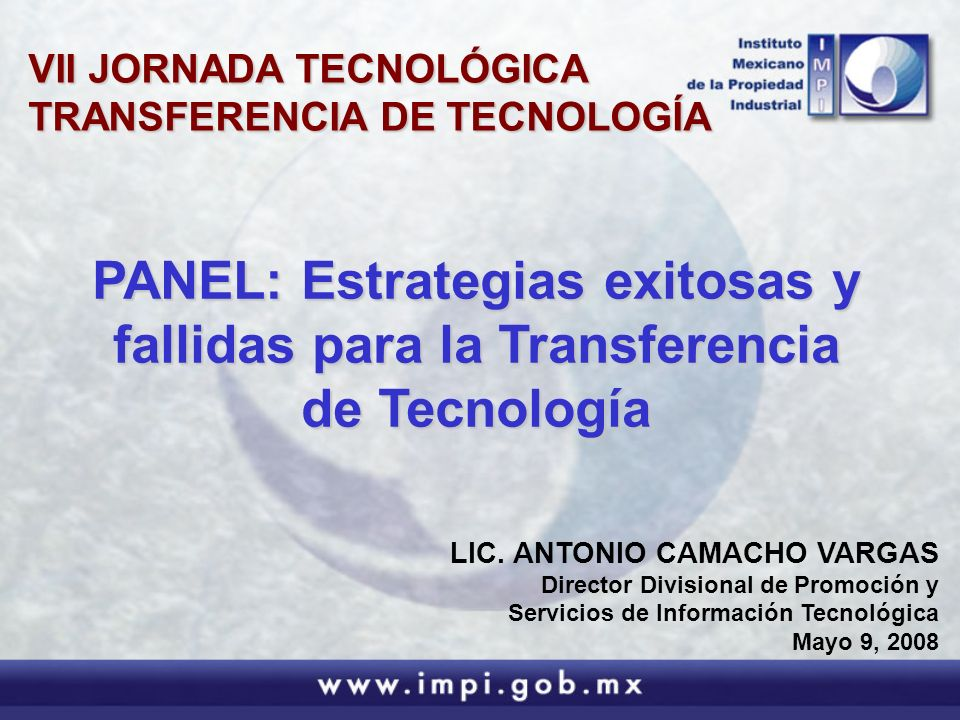 VII JORNADA TECNOLÓGICA TRANSFERENCIA DE TECNOLOGÍA