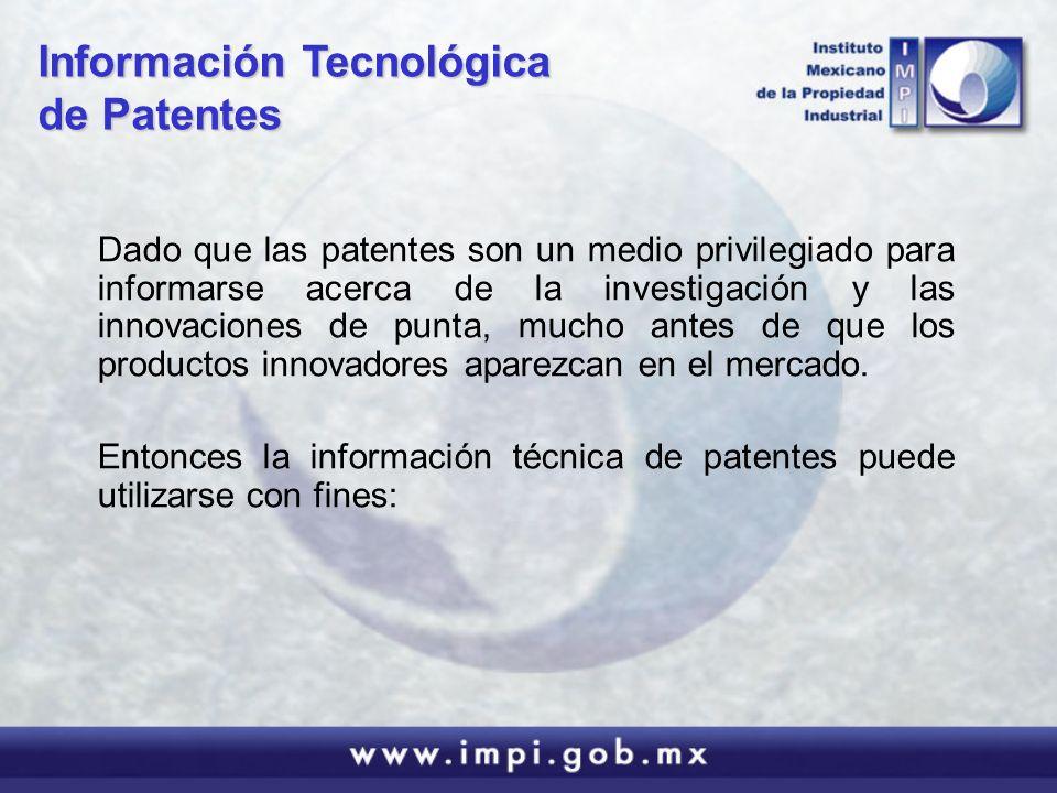 Información Tecnológica de Patentes